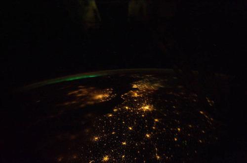 ISSから見た夜景25