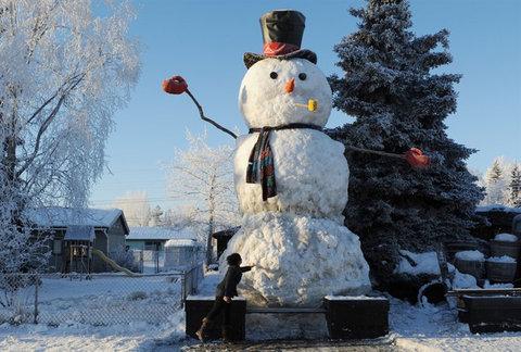 今まで一番でかい雪だるま03