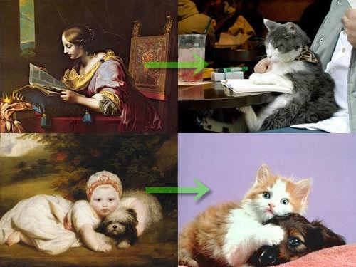 猫で再現するあの名画00