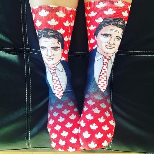 カナダ首相の靴下14