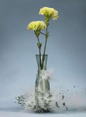 生け花と花瓶─破壊の美学06