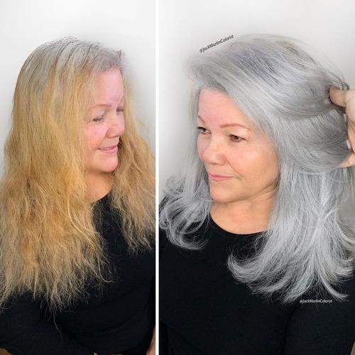 白髪染めを止めてシルバーにした女性たち04