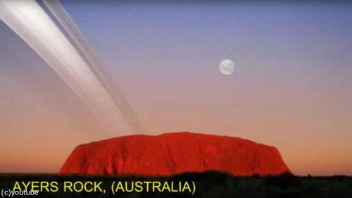 もし地球に土星の輪があったら…地上からはこう見える06
