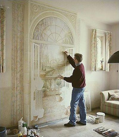 壁の絵が立体的に見えるアート08