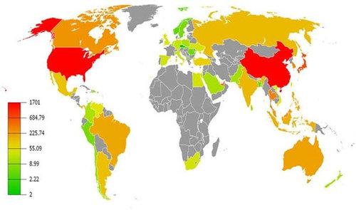 世界地図いろいろ22