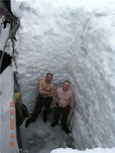ロシア人と冬04
