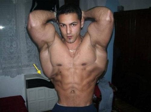 筋肉ムキムキ…合成写真04