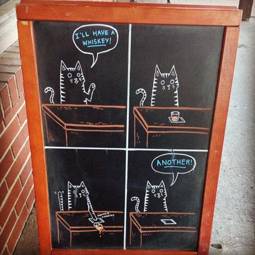 黒板の看板にチョークで絵を描いたら売り上げが伸びた01