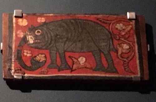 中世の想像で描かれたゾウ06