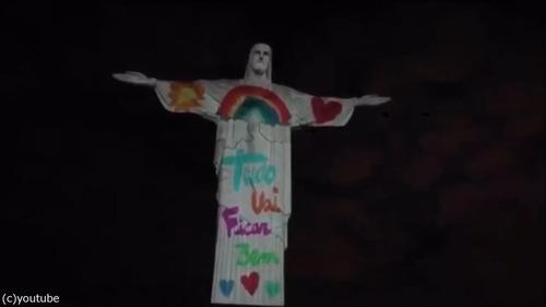 ブラジルのキリスト像が白衣姿に04