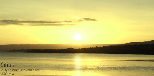 夕日を太陽以外の恒星にしたら08