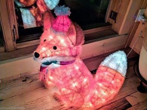 キツネのクリスマスライト00