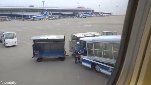 日本の空港の荷物の扱い方01