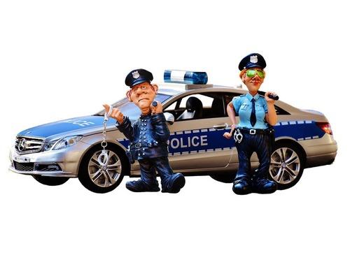 アメリカとヨーロッパの警察官