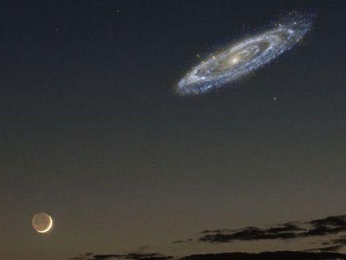 アンドロメダ銀河が明るかったら02