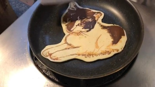 猫のパンケーキアートすごい03