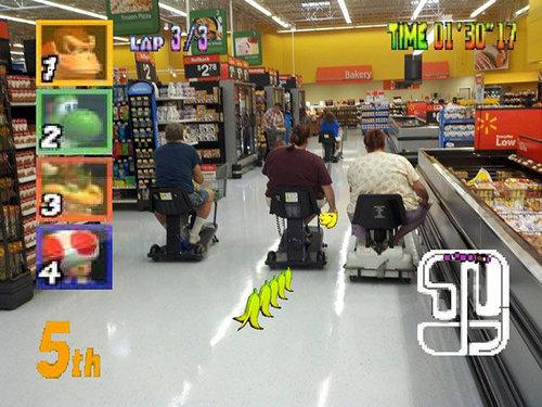 アメリカのスーパーの電動カート08