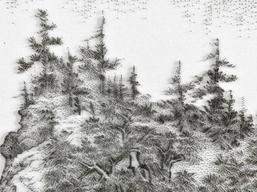水墨画のような「釘」アート05