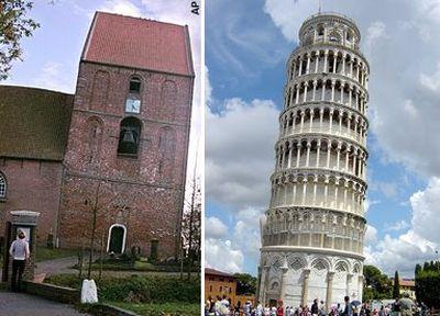 ピサの斜塔より傾いたドイツの教会がギネスブック1