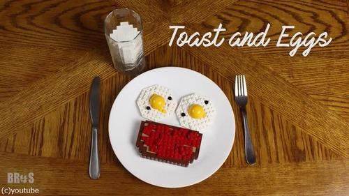 朝食づくりをレゴで表現した動画がすごい08