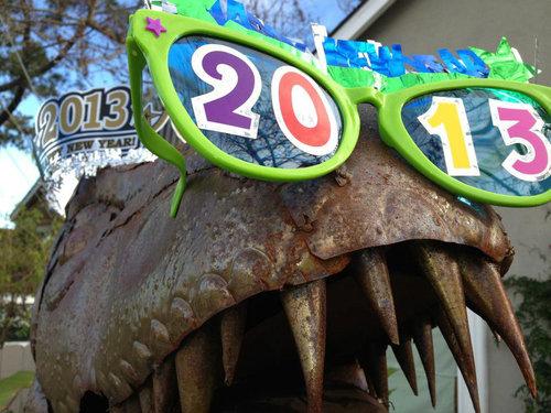 庭にいる恐竜09