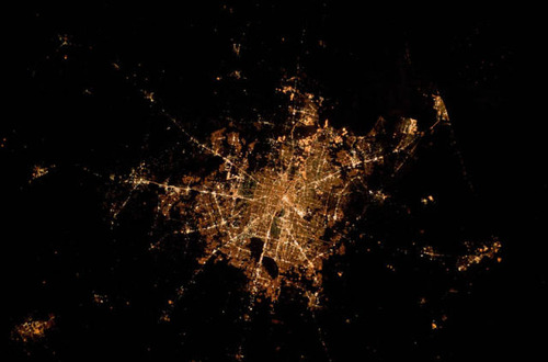 ISSから見た夜景22
