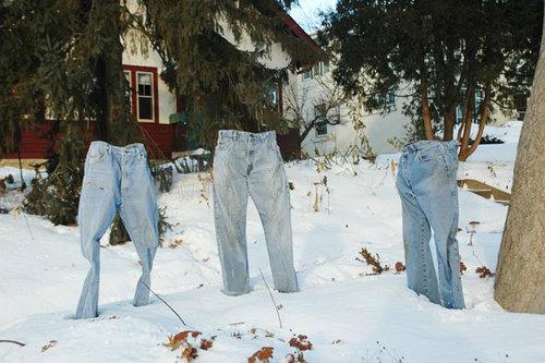 アメリカでジーンズを凍らせる遊び05