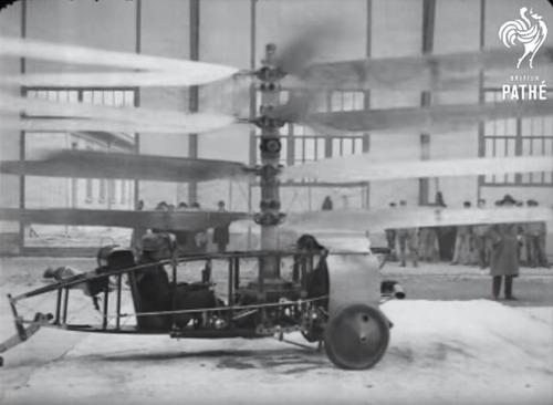 1922年のヘリコプター