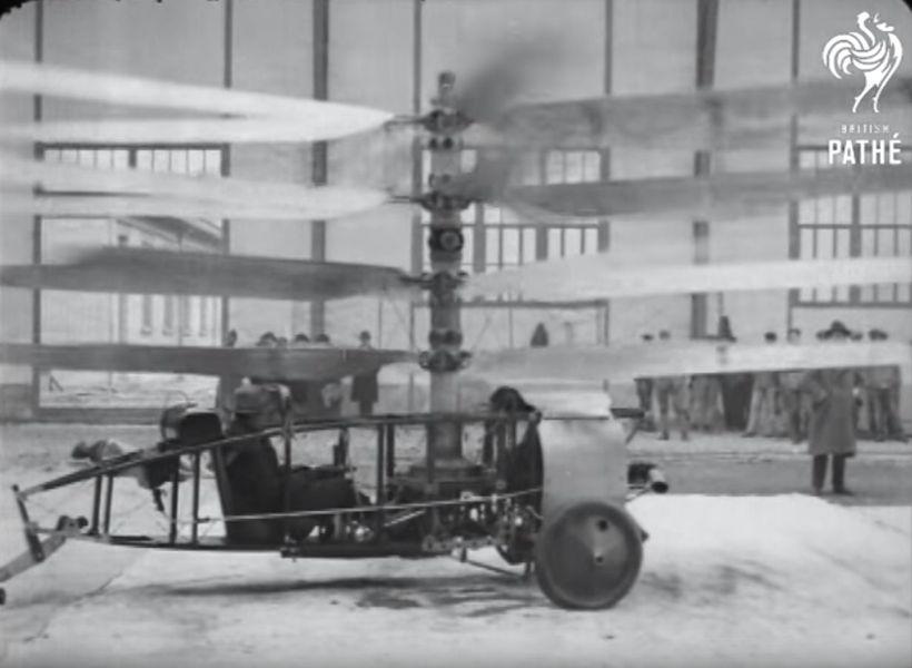 1922年のヘリコプターは…こんなに恐ろしい乗り物だった」 : らばQ