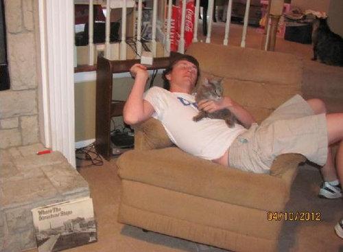 6歳のときの猫、大学卒業前の猫02