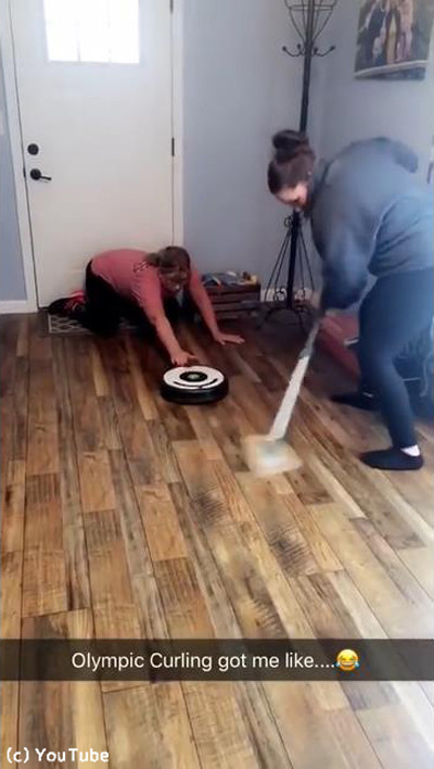 お掃除ロボットでカーリング02