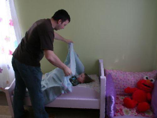 3歳の娘を寝かせるとき