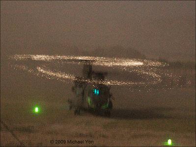 光るヘリコプターのプロペラ01
