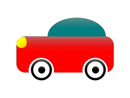 事故現場とおもちゃの車