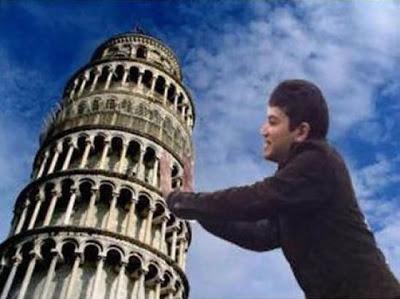 ピサの斜塔の修正写真09