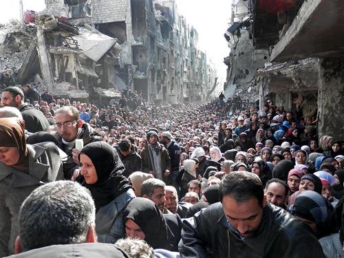 シリアの難民キャンプ01