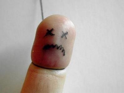 指を擬人化12