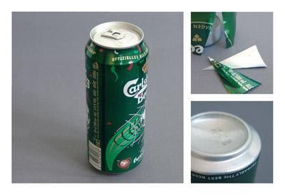 空き缶をジグザグに切る-くだらない笑える面白いリサイクル27