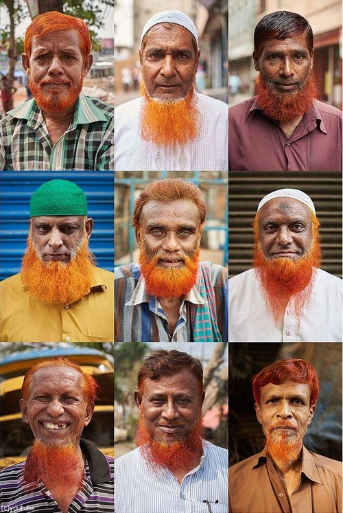 バングラディッシュで流行のヒゲの色01