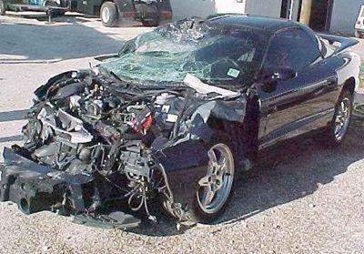 9-フロント全損の事故車