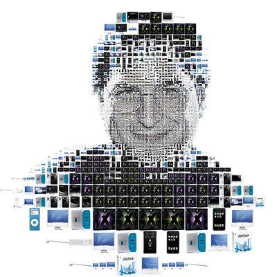 Apple製品の写真によって描かれたビル・ゲイツ