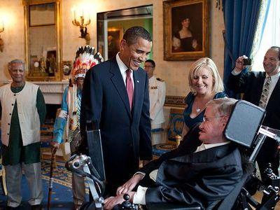 ホーキング博士とオバマ大統領