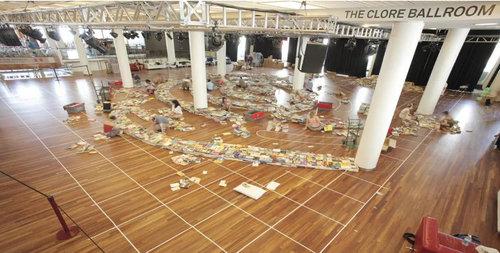 25万冊の本で迷路06