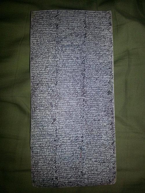 レストランの注文用紙03