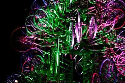 自転車クリスマスツリー10