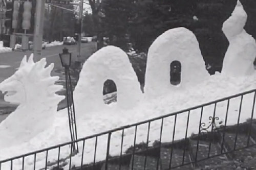 ミネソタ州の雪だるま07