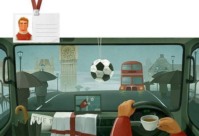 車の運転席から見る世界各国のイメージ08