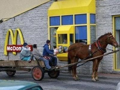 馬車でドライブスルー