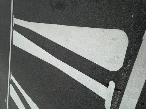 野球スタジアムまでの横断歩道02
