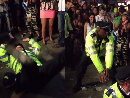 カーニバルで警官がダンス00